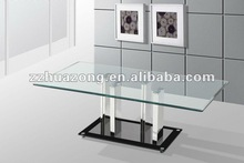 Modern Contemporary Clear Tempered Glass Coffee Table