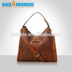 2015 Newest design ladies genuine leather classic handbag real leather hobo bag sling bag