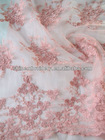 fancy peach net embroidery fabric design for dresses, very nice all over latest fabric design