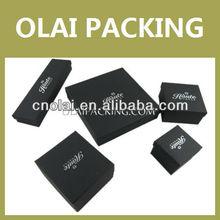 Charming Package Black Jewelry Box,Paper Jewelry Box Set