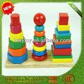 la forma básica de bloques de madera juego de apilamiento