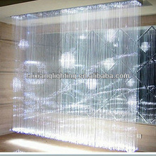 China lighting supplier produce, You design !!! RGB Smart colorful LED fiber optic curtain crystal chandelier light