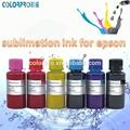 Tinta de la sublimación!!! Offset de transferencia de calor de sublimación de tinta para epson stylus r230/r350/rx650 para t- shirt de impresión