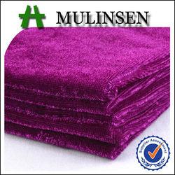 Weft Knitted Polyester Spandex Velvet Fabric, Competitive Price Fabric Velvet for Markets