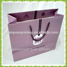 high quality paper shopping bag,luxury matt laminated paper shopping bag