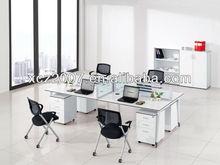 Hot sale furniture office workstation/white melamine office desk with GL legs