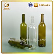 Hot sale cheap 750ml colored bordeaux style wine bottles