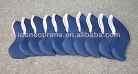 Hign Quality Neoprene Golf Clubs Head Cover Sleeve 10pcs Per Set
