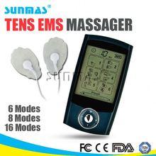 mini digital pulse massager 8 mode 2 channels echo electronic pulse massager