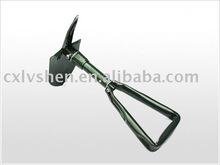 Gardening hand tools tri folding shovel