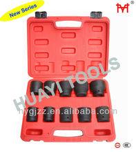 10 PC 3/4 inch Drive Metric Standard Impact Socket Sets/HUAYI TOOLS CRMO HY1025