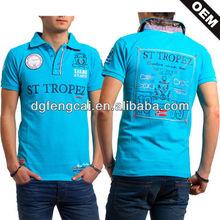 Custom cotton new design logos embroidered man polo t shirt