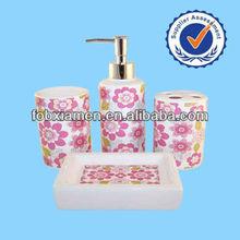 New Wholesale Home Decor Ceramic Bathroom Accessory Set For sale