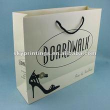 custom printed shopping store paper shoe bag