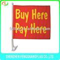 personalizzato in poliestere promozione auto bandiere per la finestra in vendita