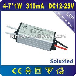 4-7w waterproof led driver IP67 350mA