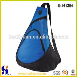600D polyester Royal blue one strap 2014 sling bag