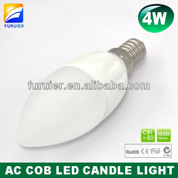 BEST PRICE!!! NEW AC COB Ceramic Samsung E14 4W LED candle light