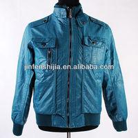 Blue Cheap Pu Leather Jacket