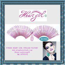 purple colored synthetic false eyelashes
