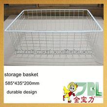 metal wire wicker baskets storage chest