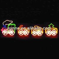 2d motif led outdoor lights trains christmas