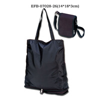 Recycled folding tote bag, nonwoven foldable shopping bag