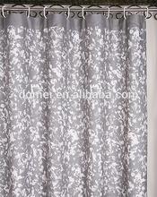 Latest Fashion 100% Polyester Bathroom Fabric Shower Curtain