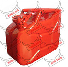 10 Liter steel Jerry Can/gasoline tank