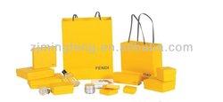 gold lamination wine paper gift bag