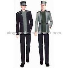 2015 hot selling fashional designed hotel/restaurant bellboy uniform sets