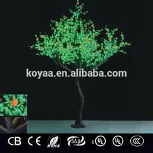 3.2m 2015 NEW artificial fruit led tree light Christmas tree light orange fruit FZ-2400-2