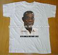 Camiseta de algodón de campaña de elecciones impresa