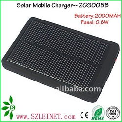 5.5V 2000MAH RHoS solar charger,portable solar charger for mobile phone
