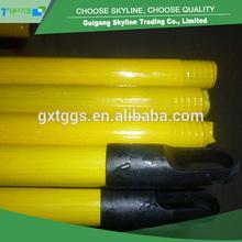 Fatcory venta al por mayor directamente de pvc revestido de madera de palo de escoba/madera palo de trapeador/recogedor de madera de mango