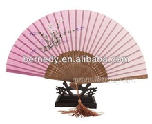 Pink Hand Fan For Wedding Party