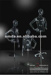 plastic attractive half body dummy/mannequins/model in hot sale