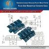H1050 Flush Grid Magnetflex Plastic Slat Top Chain Conveyor