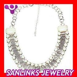 Fashion Chunky Chain Resin Rhinestone Choker Collar Necklaces for women