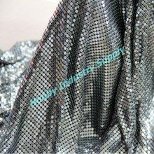 4mm Sequin Gun Metal Color Metal Mesh Fabric