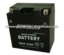sealed activated maintenance free motorcycle battery(12v 9ah)