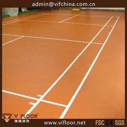 Professional Badminton PVC Sport Flooring / Sport Court Flooring