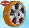 Heavy duty aluminium base de polyuréthane roue