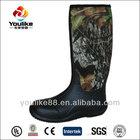YL8078 High Quality Waterproof Men Camo Rubber Hunting Neoprene Boots