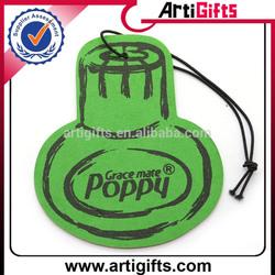 2014 printing logo perfumed paper car air freshener for car