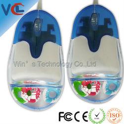 Unique liquid/ auqa optical mouse, customized computer accessories