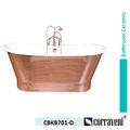 Clásico de lujo profundo esmalte libre de pie bañera de hierro fundido cbkb701-d