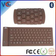 New VMK-34 Colored soft silicone bluetooth ultra slim keyboard wireless