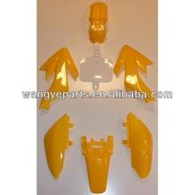Yellow Body Plastic Fairing CRF XR 50 SDG SSR BBR Xtreme Taotao 50cc70cc110cc125cc /Dirt Bike Spare Parts/Pit Bike Spare Parts