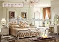 nouveau classique chambre ensemble de meubles en bois de rose de couleur w9810